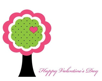 Tree of Love Personalized Stationery Set (set of 10 folded cards)
