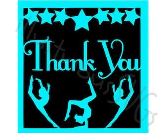 Gymnastics Thank-you Card SVG FILE