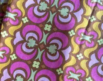 Amy Butler Midwest Modern Little Cherubs Heirloom Pink and Tangerine Fat Quarter Quilt Fabric Sewing Fabric Retro Fabric