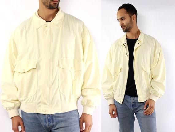 Yellow Bomber Jacket Benetton Jacket Vintage Bomber Jacket 80s Jacket Yellow Summer Jacket Light Yellow Jacket Vintage Bomberjacket Jacket