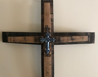 Whiskey Stave Cross