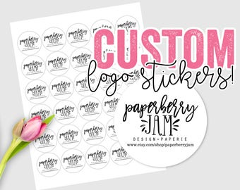 30 Custom Logo Stickers / Custom Logo Labels / Wedding / Small Business / Shop Packaging / Branding / Special Events