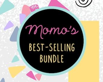 DISCOUNTED BUNDLE: Bestselling By MomoDigital - Digital Print Set, Printable Downloads, Discounted Wall Art Decoration, Home Nursery Office