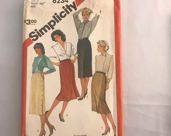Vintage Simplicity 6234 1983 Sewing Pattern Size Misses Sz 12