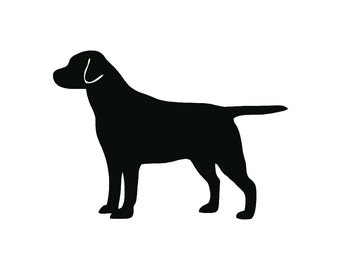Labrador Retriever Dog Breed Silhouette Custom Die Cut Vinyl Decal Sticker - Choose your Color and Size
