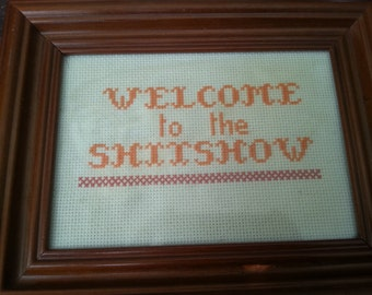 Sassy Cross Stitch in Frame