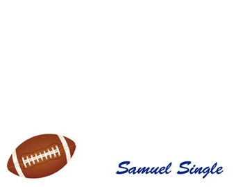 Football Note Cards Set of 10 personalized flat or folded cards