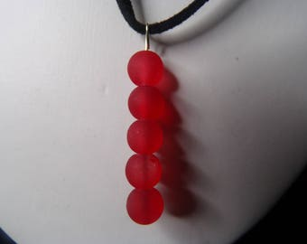 Red sea glass choker
