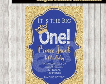 50%Off Royal Prince Invitation, Prince Birthday, Royal Prince Birthday, Royal Invitation, Prince Invitation,  1st Birthday, Boys Invitation