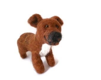 Needle Felted Staffie Sculpture. Staffordshire Bull Terrier Art
