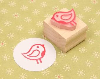 Christmas Rubber Stamp - Mini Winter Robin Rubber Stamp - Christmas Stamper - Scrapbooking - Cardmaking - Gift Bird Lover -
