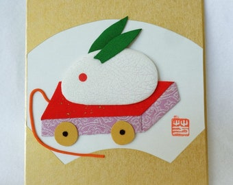 RJ150 Oshie craft,Oshi-e art board,Japanese paper/fabric Oshie/Kurumie on a shikishi board,Paper/fabric Art Craft ,marked,Hand made in Japan
