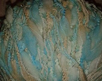 Sirdar Medici Fashion Knitting Yarn in Aqua, Ivory and Silver