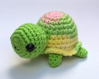 Amigurumi Turtle - Crochet Turtle ,Handmade  Doll , Soft Toy , Super Cute, Tortoise , Kawaii Plushie , Kawaii Turtle