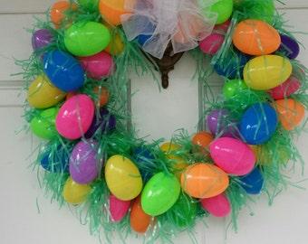 Easter Basket Wreath, Egg Wreath, Easter Eggs, Easter Decorations