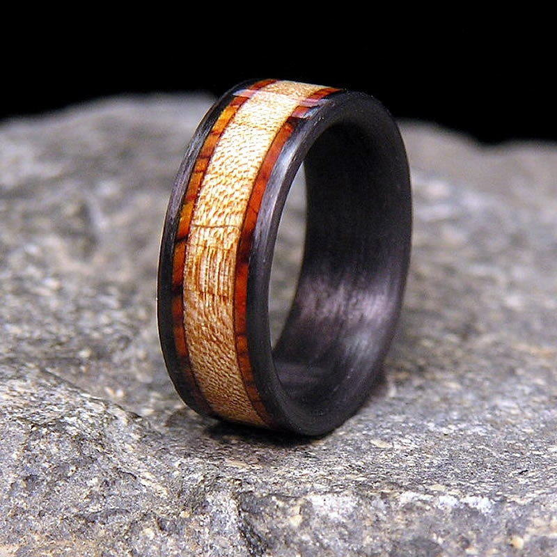 band wedding ring titanium media rings and wood weddbook rosewood