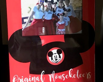 Disney Vacation Memory Frame Original Mouseketeers Keepsake Personalized 4x6 Picture Frame