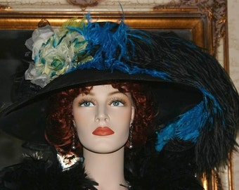 Kentucky Derby Hat, Ascot Hat, Edwardian Hat, Tea Party Hat, Royal Wedding Hat, Titanic Hat, Downton Abbey Hat - Run for the Roses