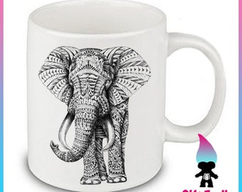 Aztec Elephant Ceramic Coffee Mug