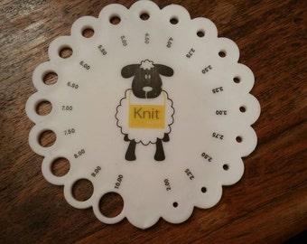 Knitting Needle Size Gauge : Pony knitting needle gauge mm ebay