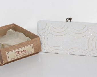 Classic And Simple Vintage Clutch In Original Box Is Perfect For A Summer Wedding Or Formal Affair