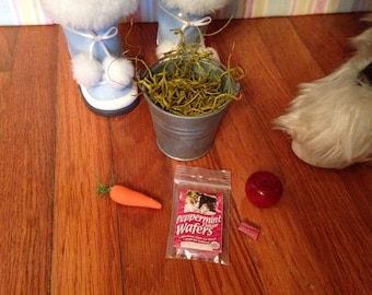 """18"""" Doll Horse Accessory Set-food, carrot, apple and peppermint treats 18 inch doll 1:3 scale"""