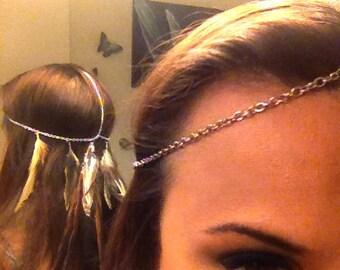 Customizable Feather Head Chain / Headdress