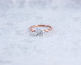 Swarovski Crystal Shard | Electroformed Copper Ring US 6 1/2