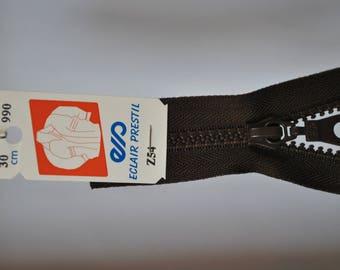 zipper 40cm separable Z54 dark brown Walnut stain 990 mesh plastic molded