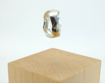 Cast Pure Silver Ring