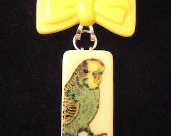 Budgie Bow Brooch SALE
