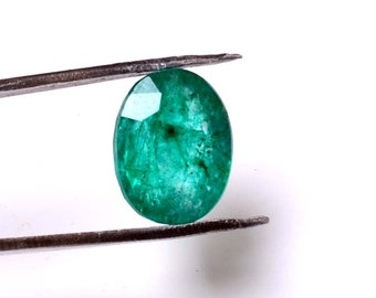 Emerald 5.80 Cts Emerald Oval Shape Gemstone 12.50X9.70 MM Size Natural Emerald Loose Oval shape Gemstone 013
