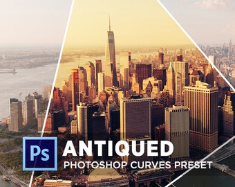 Photoshop Curves Preset ANTIQUED | Use as PS Resource, Color Pop for Photo Editing & More