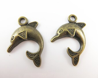 6 dolphin charms
