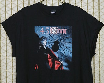 45 Grave vintage rare T-shirt, black tee shirt, goth gothic, Germs, Gun Club, The Screamers, horror punk, School's Out, Sleep in Safety