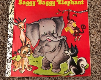 New Friends for the Saggy Baggy Elephant - Vintage Little Golden Book 1976
