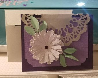 Flower Daisy Card- blank.