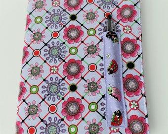 Purple Journal, Ladybug Gift, Covered Composition Book, Composition Book Cover, Reusable Journal Cover, Washable Book Cover, Purple Ladybugs