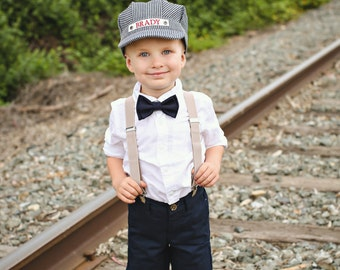Personalized Train Hat with Red Bandana Personalized Train Set Train Engineer Hat Custom  sc 1 st  Etsy & Toddler Train Hat Toddler Train Party Train Birthday Train
