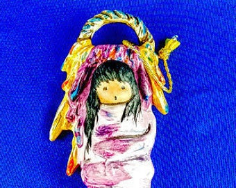 Native American Baby  DeGrazia Ornament