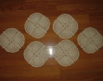 Crocheted Coasters Set Of 6!