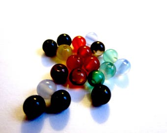 Set of 20 4mm agate beads