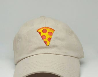 Pizza Emoji Embroidered Baseball Dad Hat Strapback Humor Dat Hats Women's Hats Men's Hats