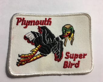 PLYMOUTH SUPERBIRD Detailed Logo Vintage NOS Patch