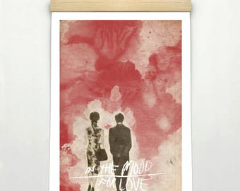 """IN the MOOD for LOVE, Minimalist Movie Poster Print 24 x 36"""""""