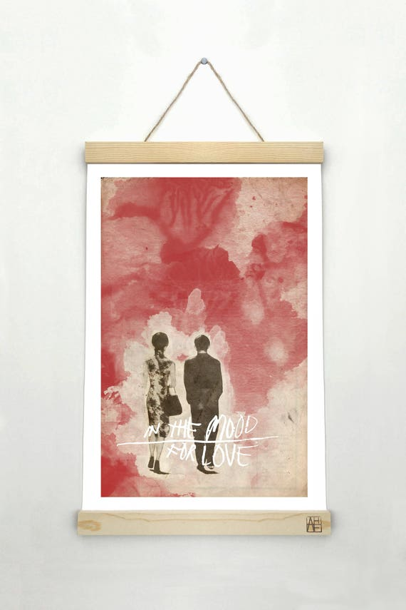 IN the MOOD for LOVE Minimalist Movie Poster Print 24 x