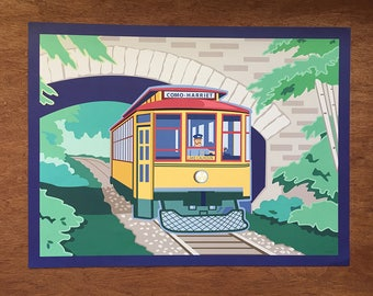 "Lake Harriet Trolley, Minneapolis, 18x 24"" poster"