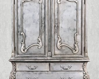 Elegant Hand Painted Armoire