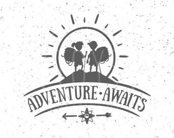 Adventure Boy and Girl svg Adventure awaits svg Kid Adventure Girl svg Wild svg Girl Young svg Adventure awaits svg Adventure svg Silhouette