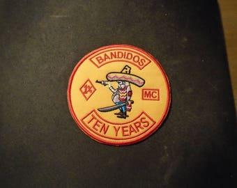 3.5 inch Bandidos Ten Years Patch